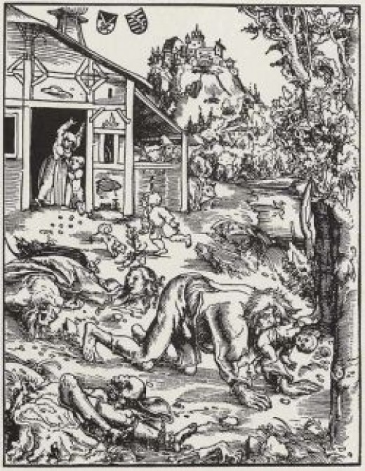 attack-of-werewolf-woodcut-16th-century