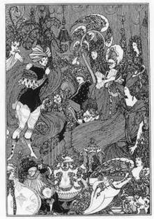 Aubrey Beardsley's illustration of Rape of the Lock