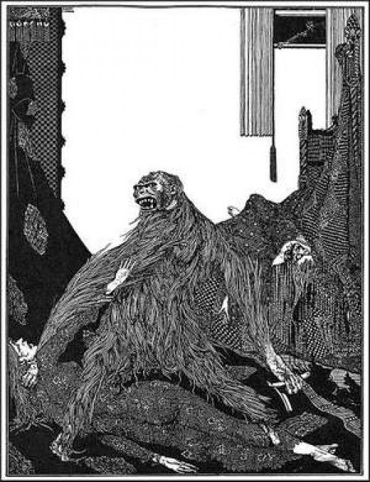 Harry Clarke's illustration of The Murders in the Rue Morgue