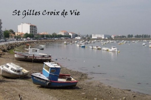 Town and River of St Gilles Croix de vie