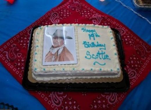 western cake centerpiece idea