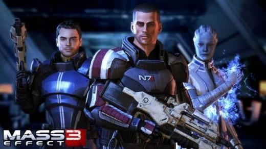 Kaidan, Shepard and Liara