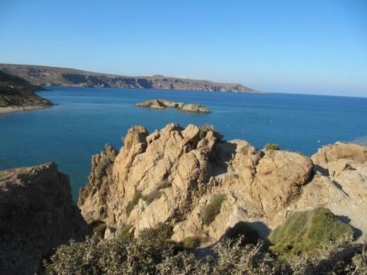 Beautiful photo of Crete and the Mediterranean Sea.