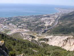 Benalmadena and towards Fuengirola from the summit of Mount Calamorro