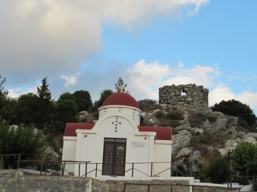 A small chapel near the road. Most people on the island follow the Greek Orthodox faith.