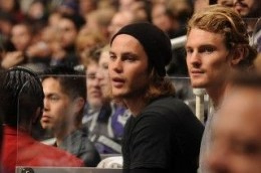 Taylor and one of his brothers