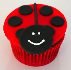 Ladybird Beetle Cupcake Image by Glorious Treats @ Flickr