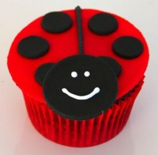 Ladybird Beetle Cupcake Image by Glorious Treats @ Flickr