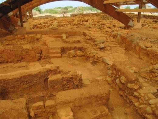 Minoan ruins.