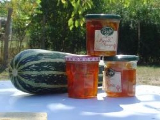 My marrow and ginger jam