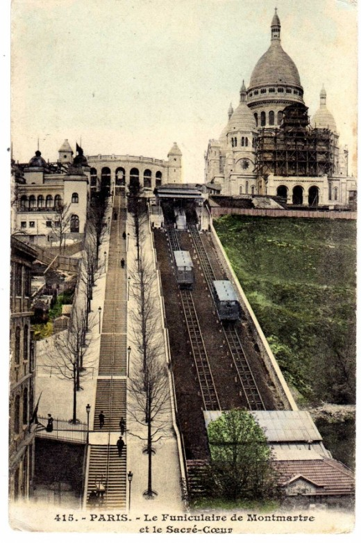Montmartre Funicular, Paris,  c1906
