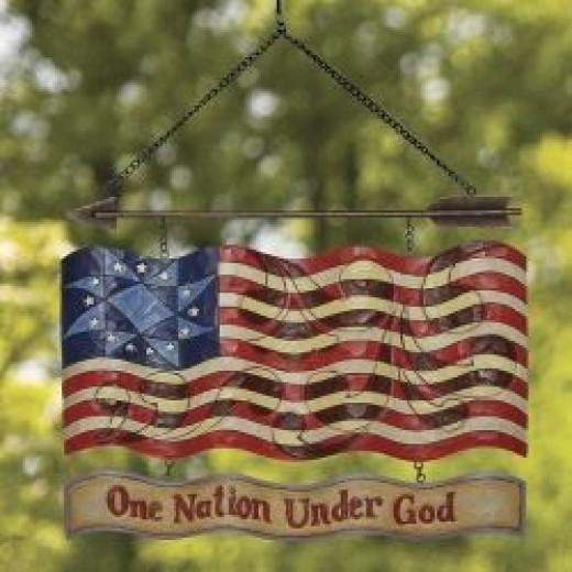 Patriotic Garden Sign