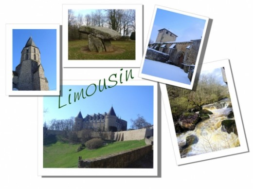 Limousin has many castles and pretty villages