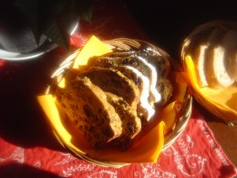 Spiced fruit bread for Christmas