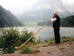 Music of the alps - the alphorn