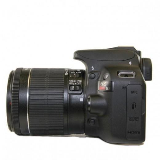 Canon Rebel SL1 Left Side