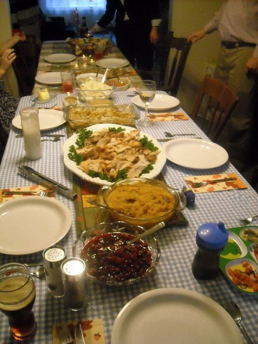 Thanksgiving Spread, by fatherspoon, from Flickr