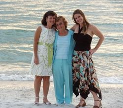 My Daughter and Mother with Me at Sunset on the Beach