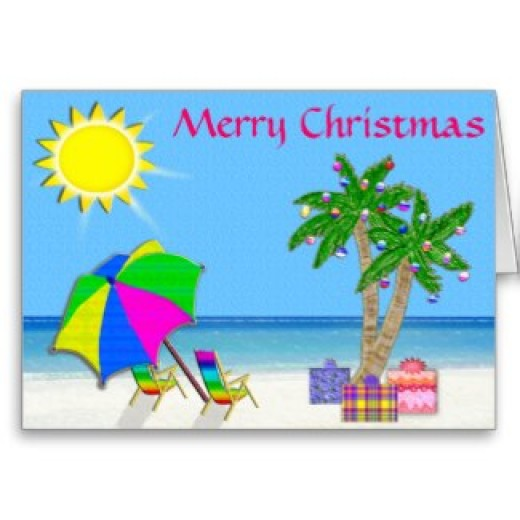 Cheerful Tropical Christmas Cards - CUSTOMIZABLE