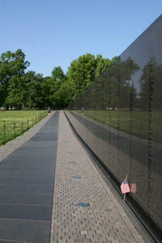 Vietnam Veterans Memorial Wall in Washington, D.C.