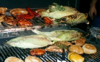 Grill your corn over indirect heat, along with any other foods you are preparing