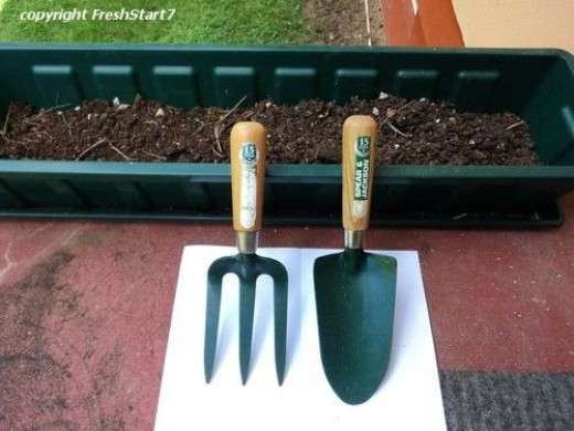 My Gardening Knife and Fork - the essentials of vegetable gardening!