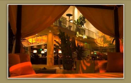 Interior photo of the popular restaurant Trader Vic's whose menus offers a authenic American casual dining experience.