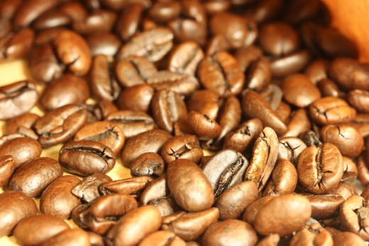 Coffee Beans with a Canon macro lens