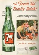 Fresh Up With 7 Up 1960 Ad Print