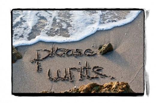 photograph beach messages