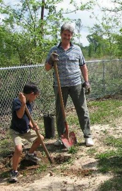Tree Planting at Folsom Elementary