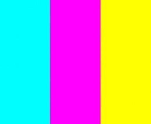 cyan magenta and yellow