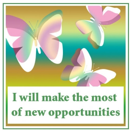 Opportunity affirmation card designed by sema
