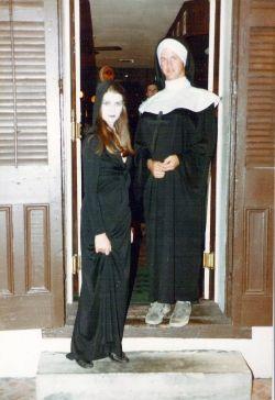 Vamp & Nun on Halloween