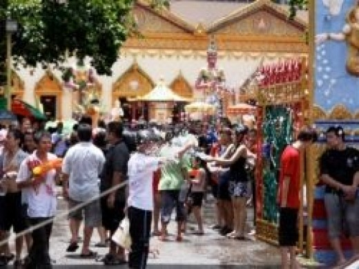 Street party at the Songkran Water Festival