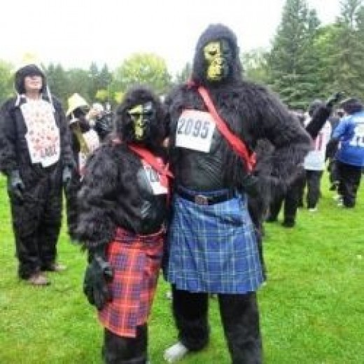 Costumed Runners