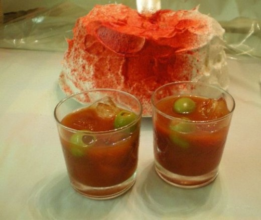 Bloody Mary with Icy Eyeballs--No Spirits Please!
