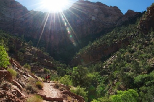Watchman Trail- on the trail