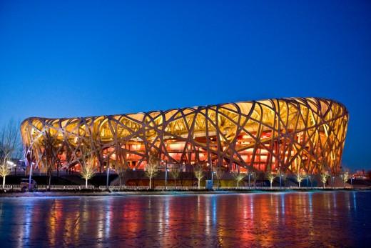 Beijing's Bird Nest built for the 2008 Olympicshttp://beijingbirdsnest.wordpress.com/birds-nest-facts/