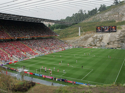 """The Quarry"" Braga, Portugalhttp://www.footballscores.com/news/uncategorized/ten-most-unusual-football-stadiums-in-the-world/"