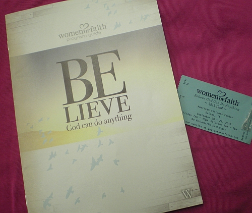 My program and ticket!