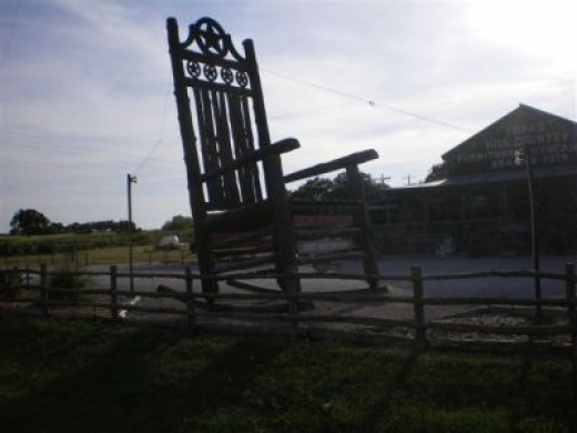 Everything is Bigger in Texas ... Even the Rockin' Chairs