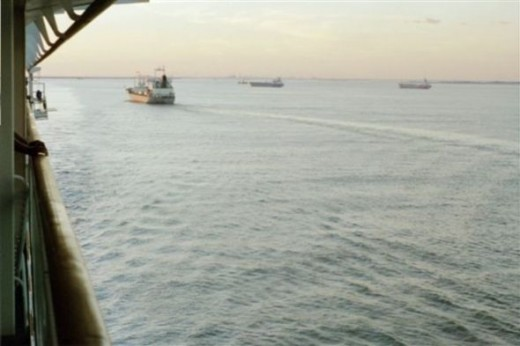 Leaving Galveston
