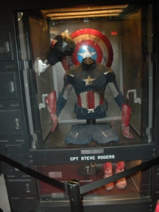 From the stand promoting The Avengers movie, here is the locker of Captain America's alter ego Steve Rogers!