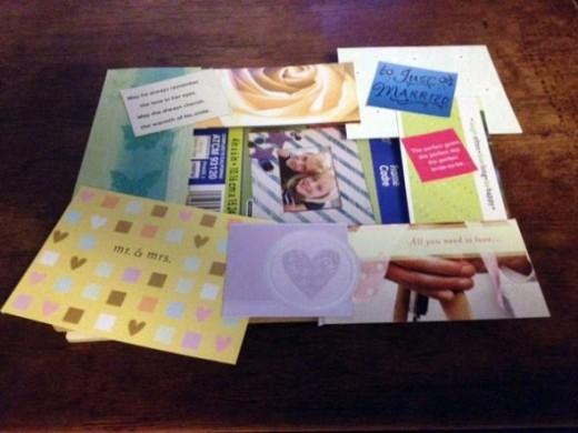 Wedding Card Cut Outs