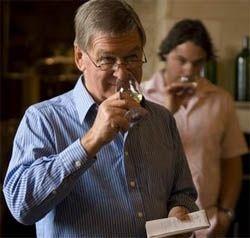 Hugh Johnson wine tasting