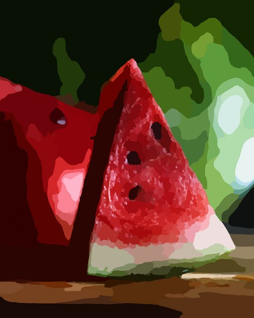 Summer fruit slices of Watermelon