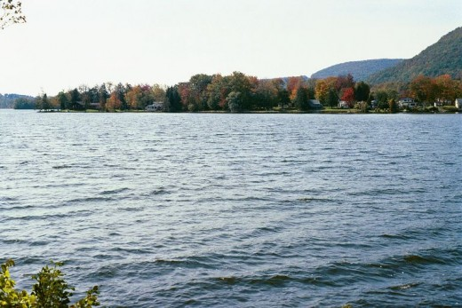 A Vermont lake nearby our hotel