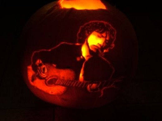 Finished Andy Summers Pumpkin