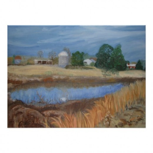 This is my rendition of the farm where I grew up.